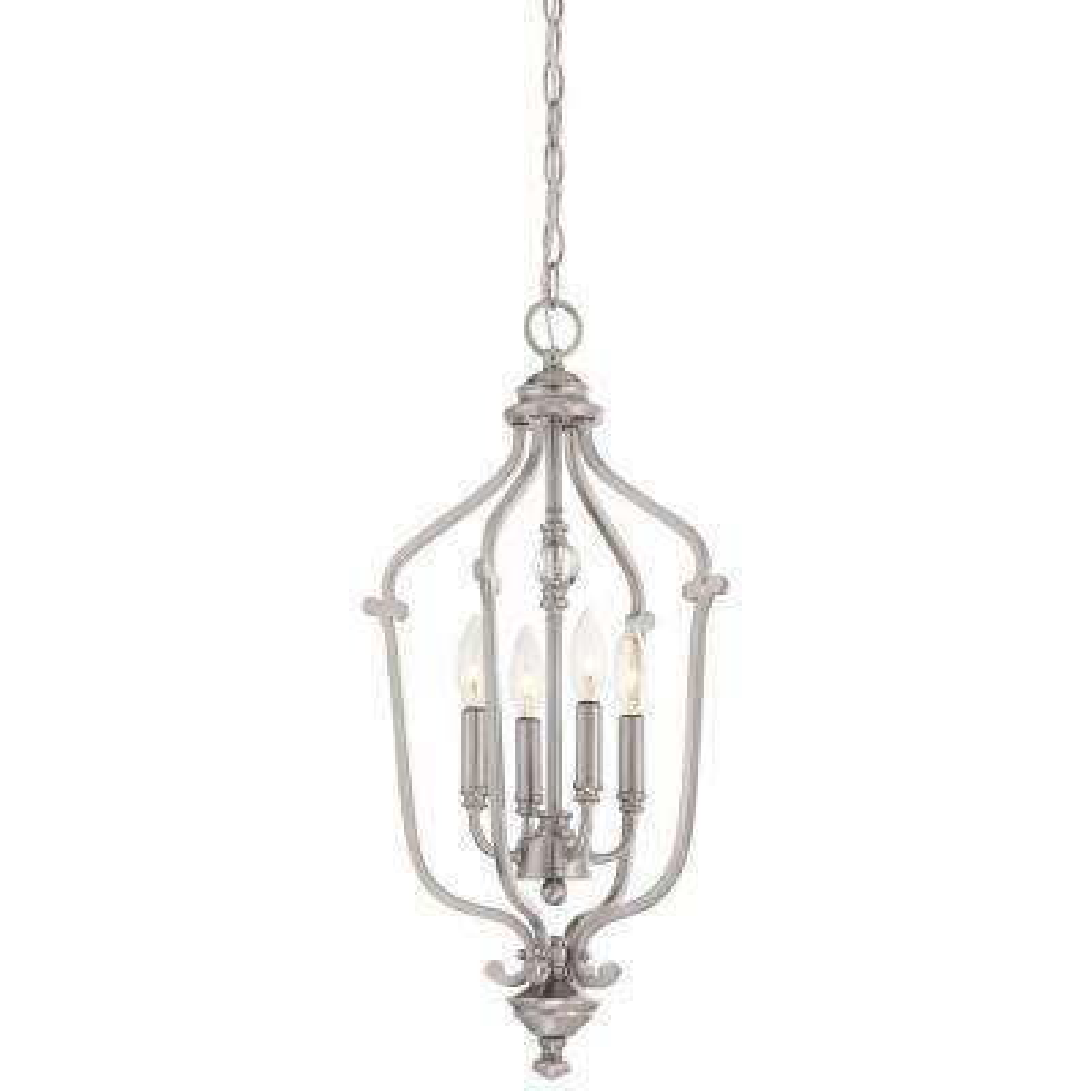 Savannah Row 4-Light Brushed Nickel Pendant