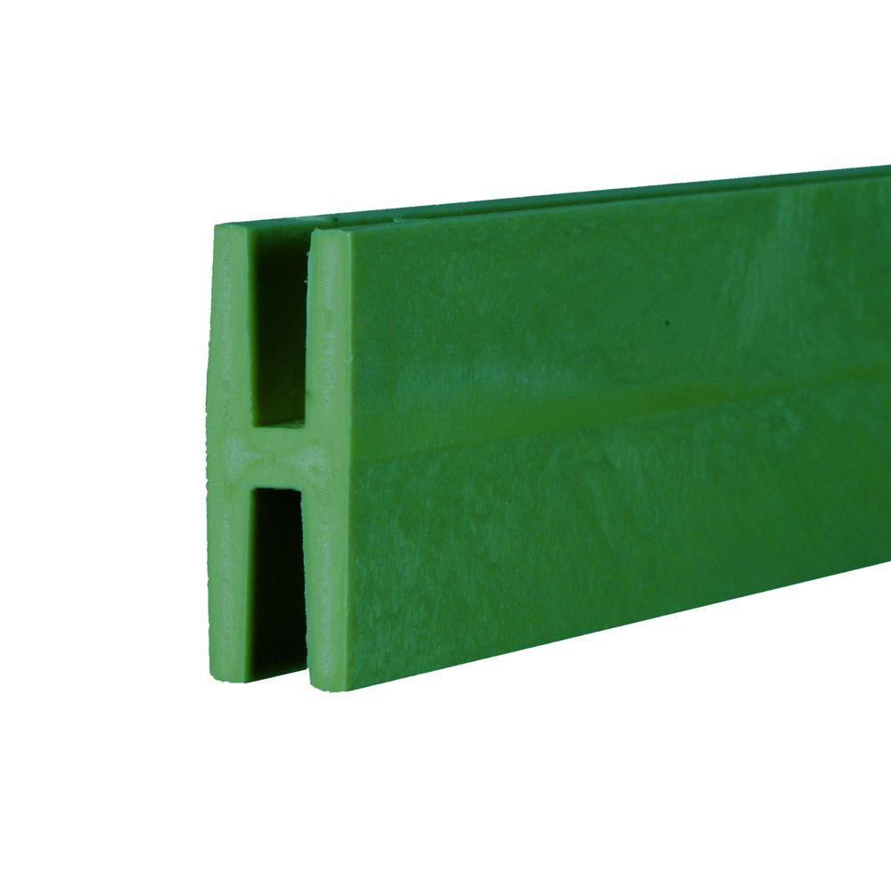 0.75 in. x 2 in. x 8 ft. Forest Green Plastic