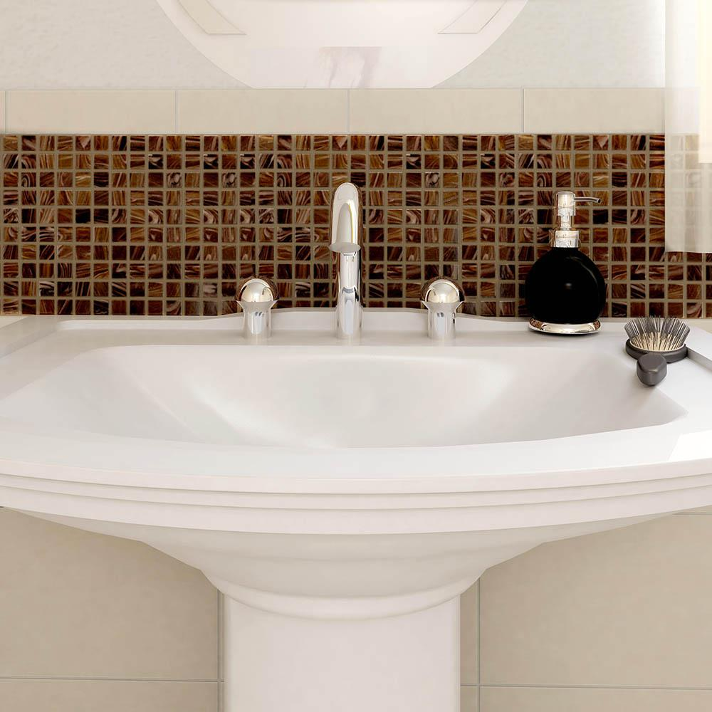 Merola Tile Coppa Brown Gold 12 In X