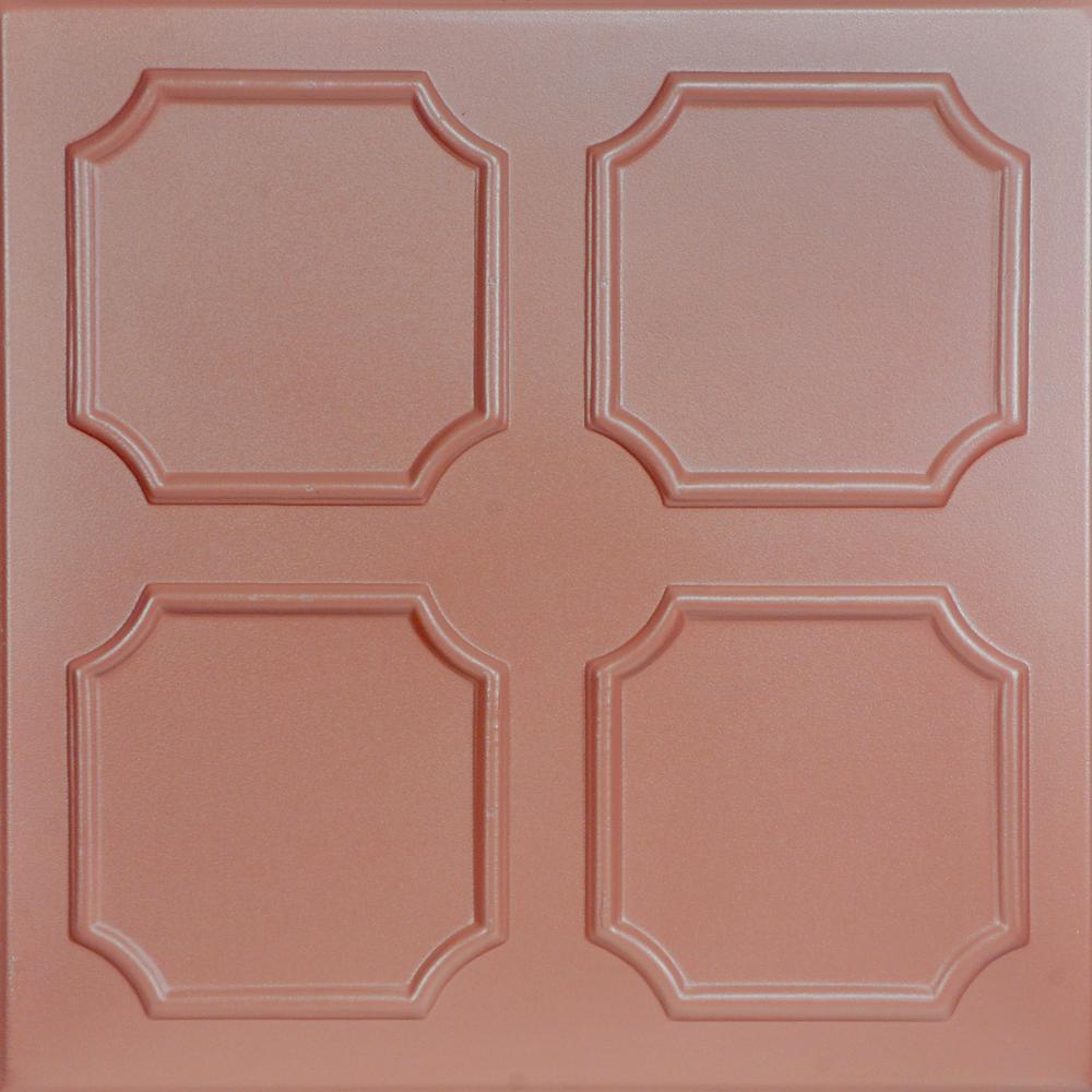 Bostonian 1.6 ft. x 1.6 ft. Foam Glue-up Ceiling Tile in Tea Room