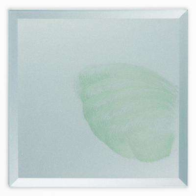 Green Square 8 in. x 8 in. Beveled Glossy Hand Made Art Glass Field Wall Tile (0.444 sq. ft. / piece)