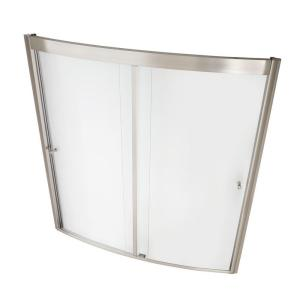 American Standard Ovation 60 inch x 58 inch Framed Bypass Tub/Shower Door in Satin Nickel by American Standard