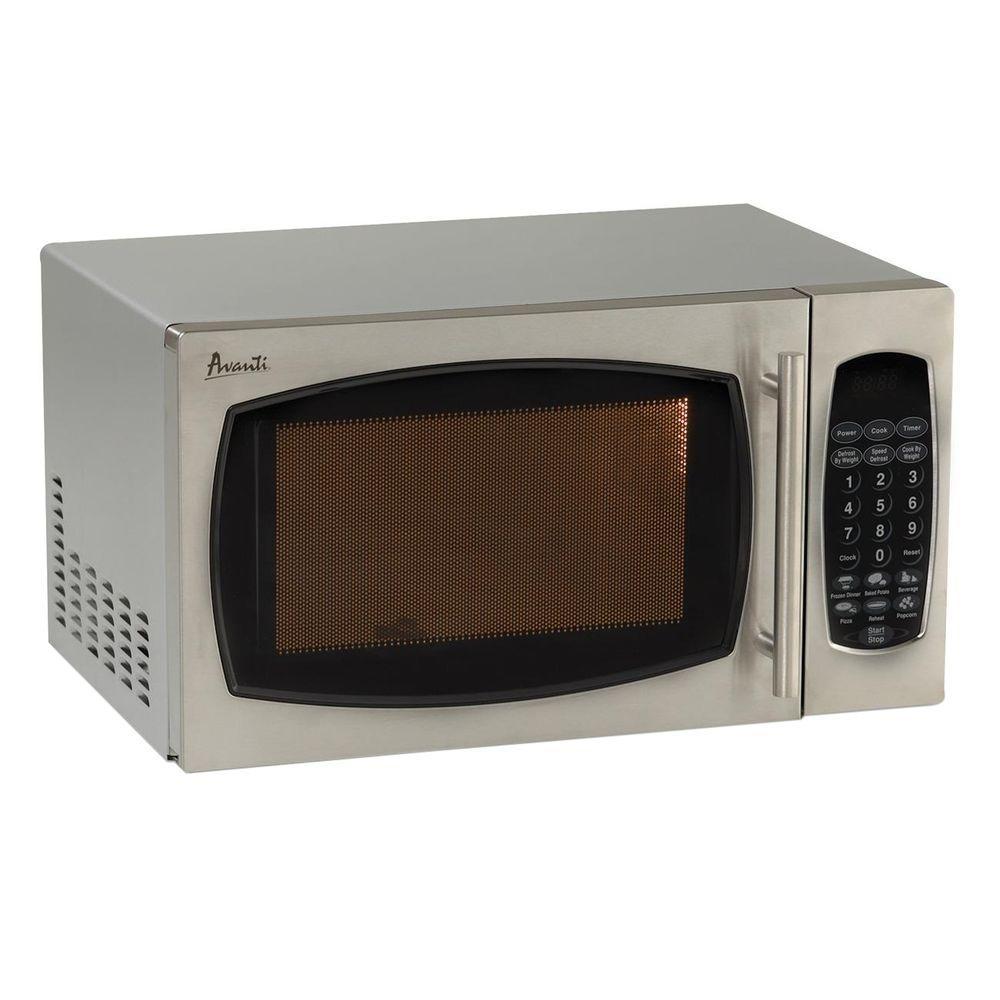 0.9 cu. ft. 900-Watt Countertop Microwave in Stainless Steel
