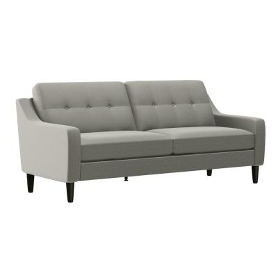 Kelleher Dove Gray Linen Scooped Arm So Fast Sofa