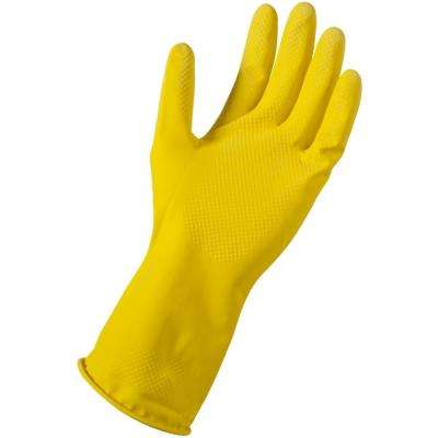 Large/X-Large Yellow Latex Reusable Gloves (24-Pair)