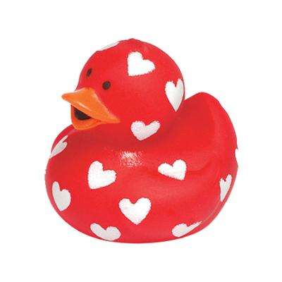 1.75 in. Valentine's Day Rubber Duck (20-Pack)