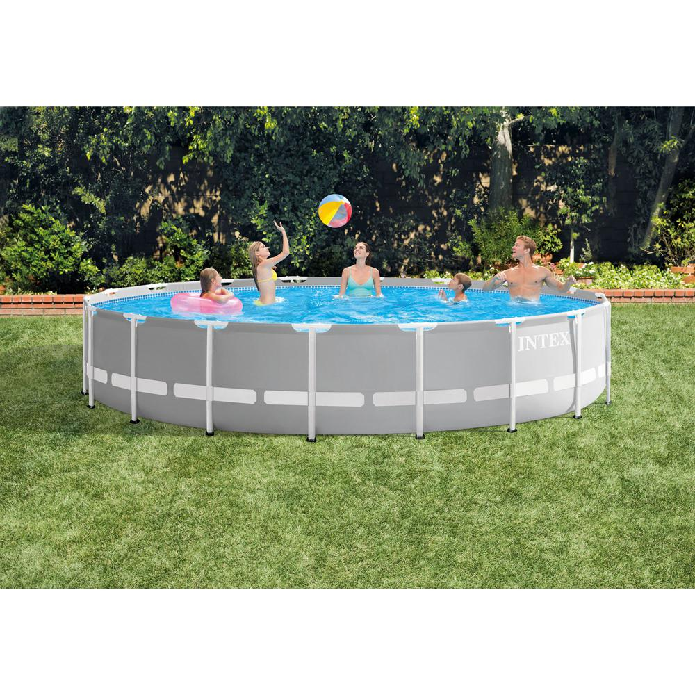 Intex 18 ft. x 48 in. Prism Frame Above Ground Swimming Pool Set with Pump