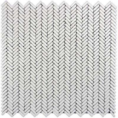 Constantine Lancelot Islandic 12 in. x 12 in. x 6.35 mm White Glass Mesh-Mounted Mosaic Tile (10 sq. ft. / Case)