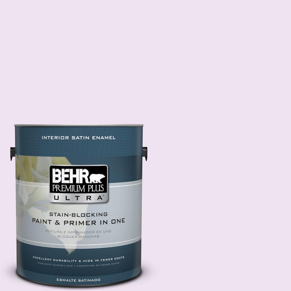 1 gal. #670A-1 Quartz Pink Satin Enamel Interior Paint and Primer