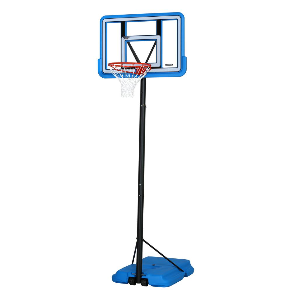 44 in. Portable Pro Court Blue Basketball System