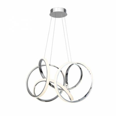 Vornado 29 in. 750-Watt Equivalent Integrated LED Chrome Pendant with Composite Shade