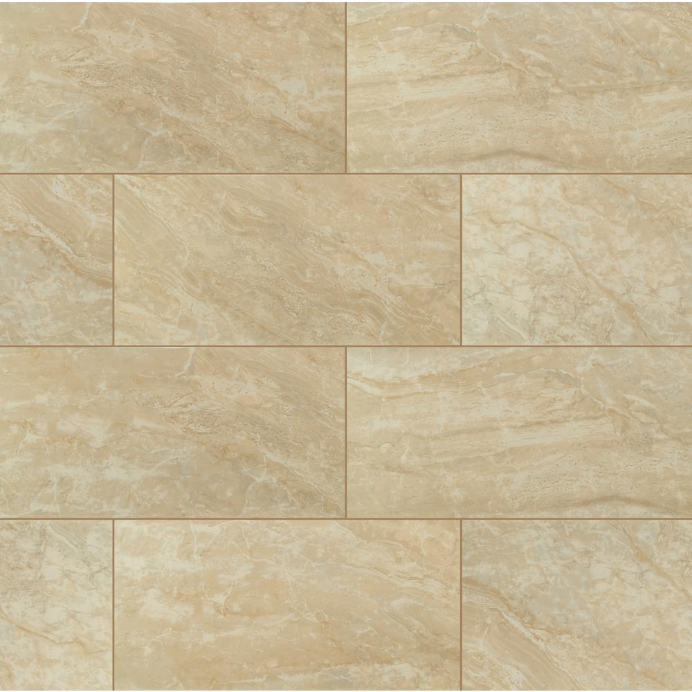 MSI Onyx Crystal 12 in. x 24 in. Polished Porcelain Floor and Wall Tile (16 sq. ft. / case)