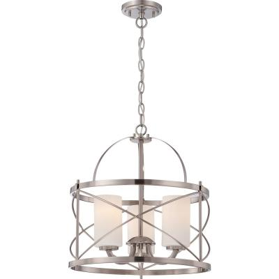 Selena 3-Light Brushed Nickel Pendant