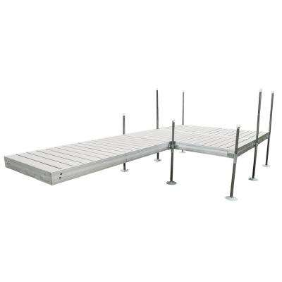 16 ft. L-Style with 8 ft. x 8 ft. Platform Section Aluminum Frame with Decking Complete Dock