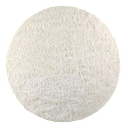 Faux Sheepskin White 8 ft. x 8 ft. Round Area Rug