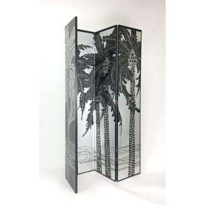 Silver Leaf Hand Painted Double Side Screen