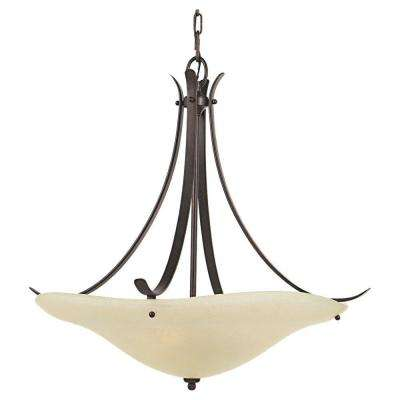 Morningside 3-Light Grecian Bronze Uplight Chandelier Shade