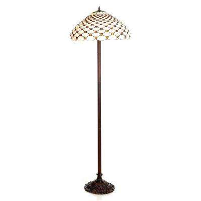 60 in. Jeweled Brown Floor Lamp