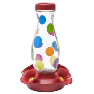 Perky-Pet 16 oz. Colorful Dots Glass Hummingbird Feeder by Perky-Pet