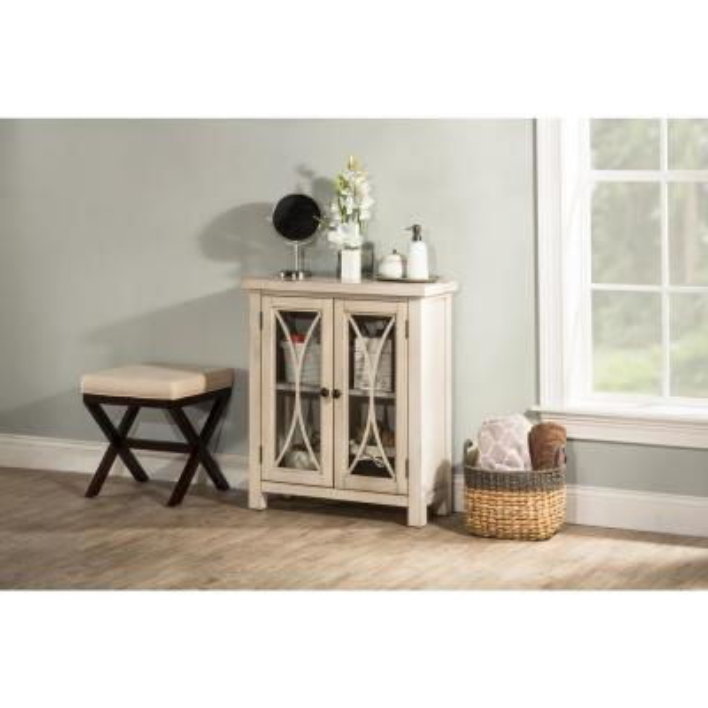 Bayside Antique White 2 Door Cabinet