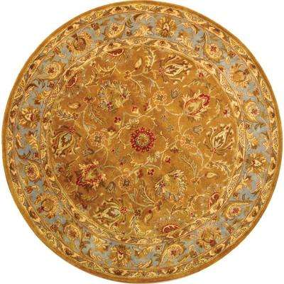 Heritage Green/Gold 8 ft. x 8 ft. Round Area Rug