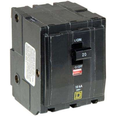 QO 20 Amp 3-Pole Plug-In Circuit Breaker