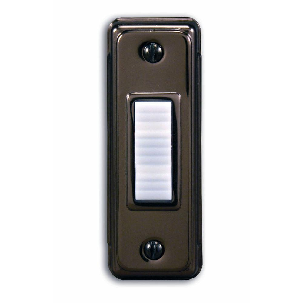 Heath Zenith Wired Bronze Push Button With Lighted White Center Bar-DISCONTINUED