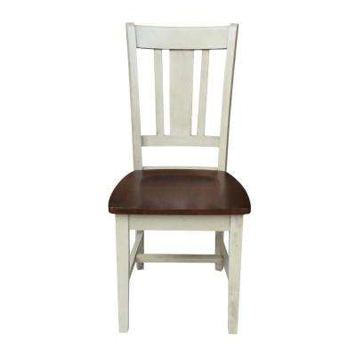 San Remo Antique Almond and Espresso Wood Dining Chair (Set of 2)