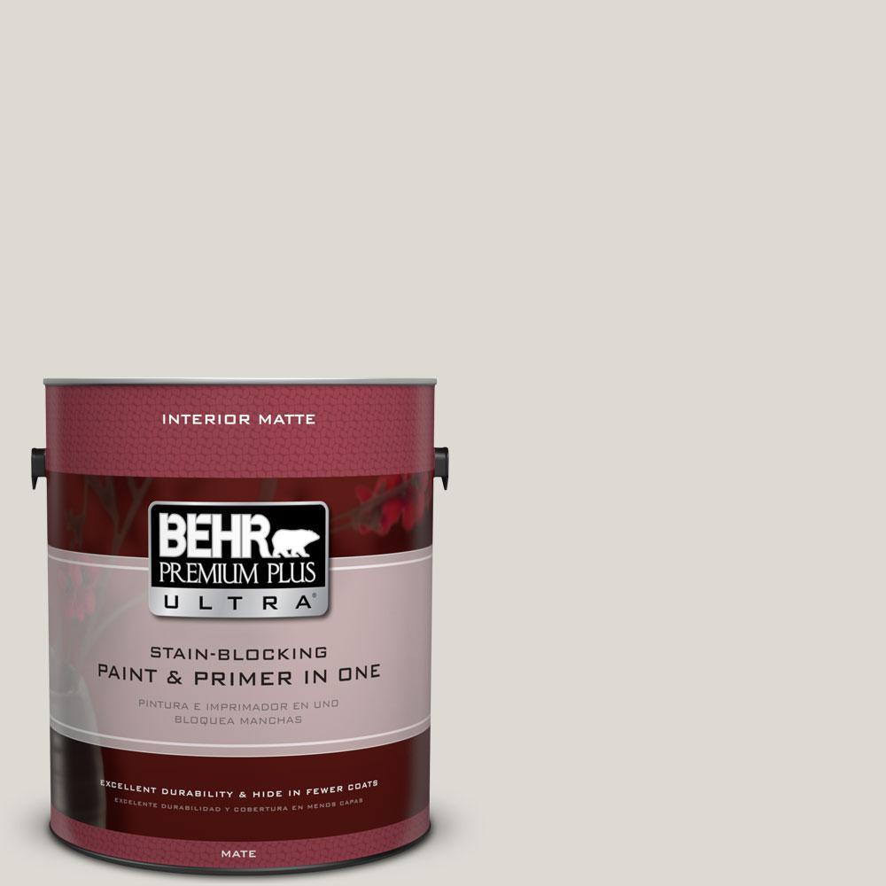 1 gal. #GR-W11 Silver Ash Matte Interior Paint