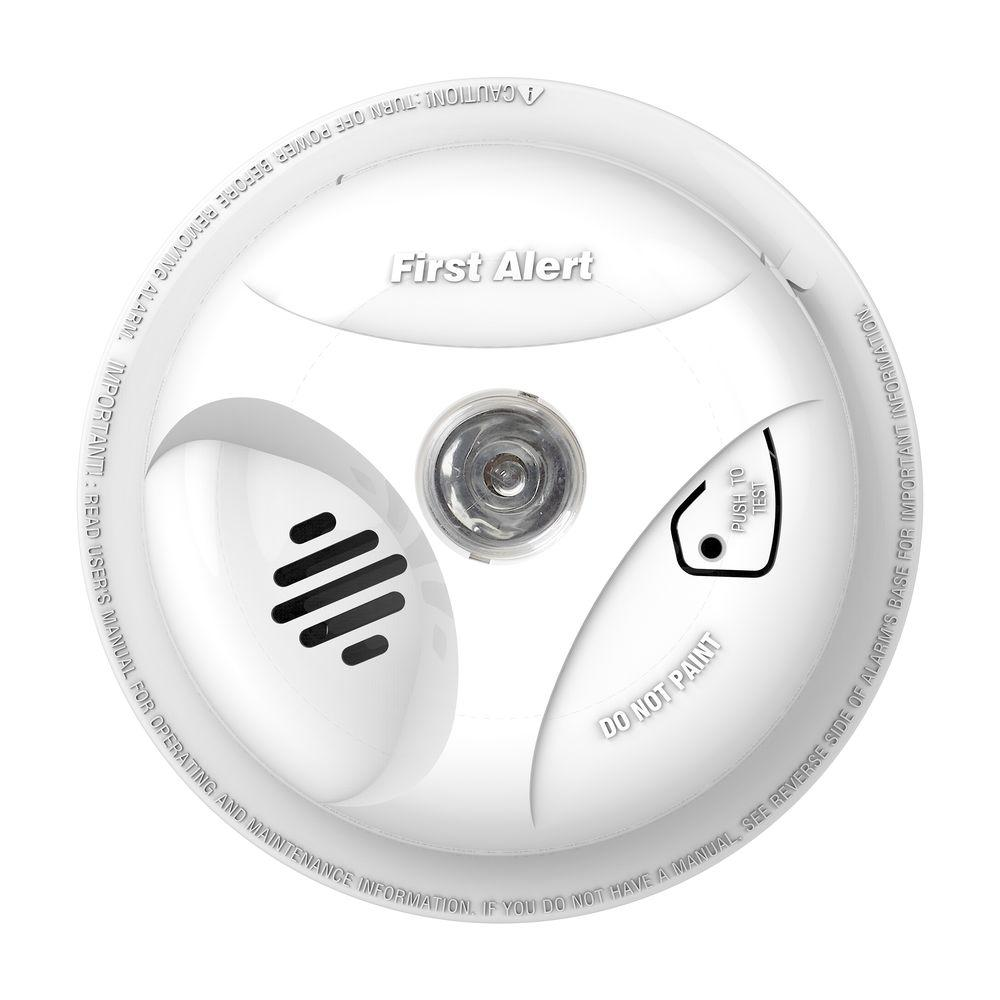 First Alert Battery Operated Smoke Alarm with Escape Light