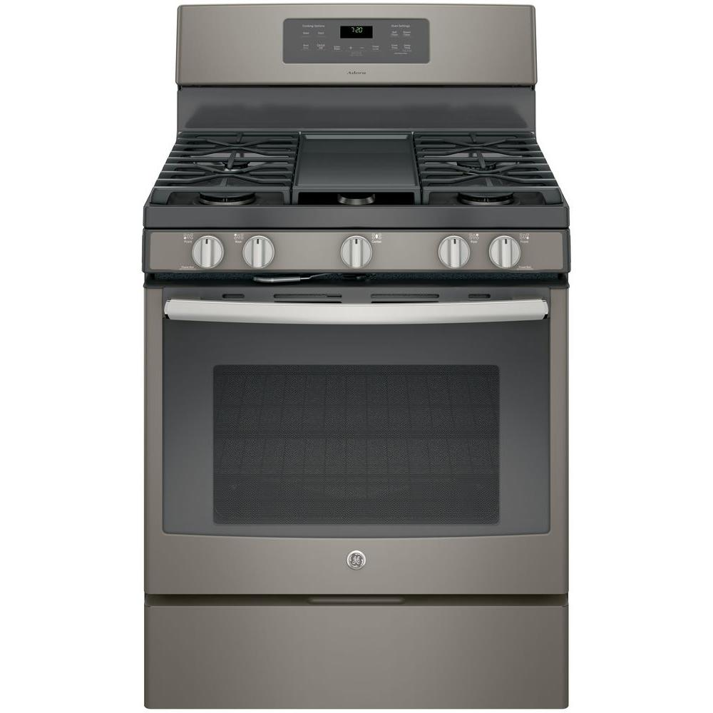 GE Adora 5.0 cu. ft. Gas Range with Self-Cleaning Convect...