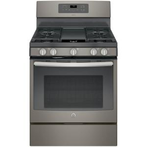 GE Adora 5.0 cu. ft. Gas Range with Self-Cleaning Convection Oven in Slate by GE