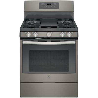 Adora 5.0 cu. ft. Gas Range with Self-Cleaning Convection Oven in Slate