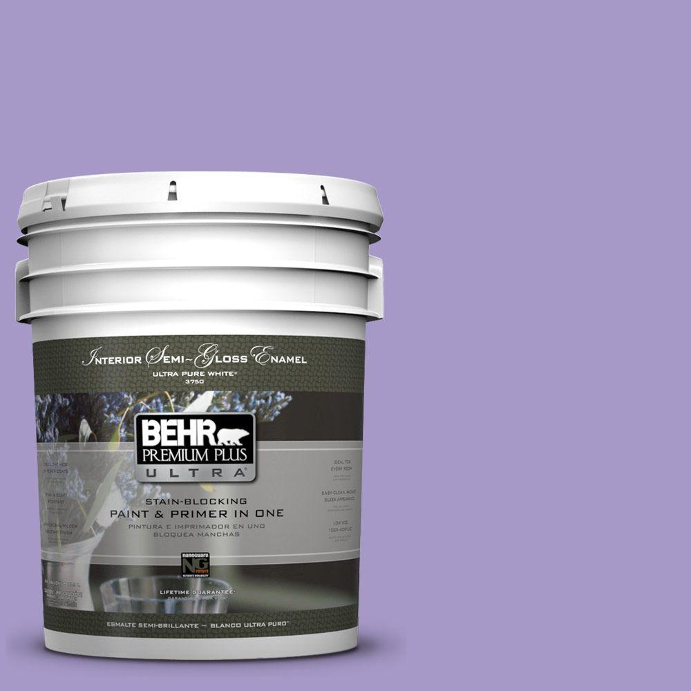 5 gal. #640B-5 Bloomsberry Semi-Gloss Enamel Interior Paint and Primer in
