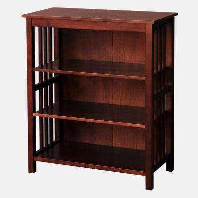 Hollydale Chestnut 3-Shelf Bookcase