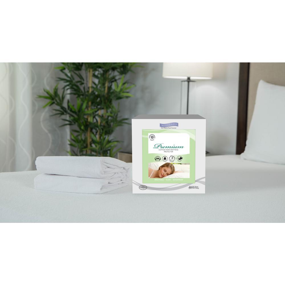 Premium Cotton Terry Full Mattress Protector