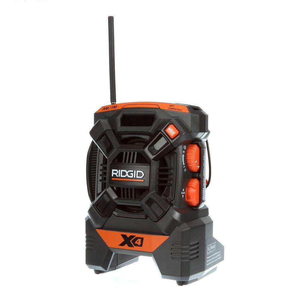 RIDGID X4 18-Volt Cordless Mini Radio (Tool Only)