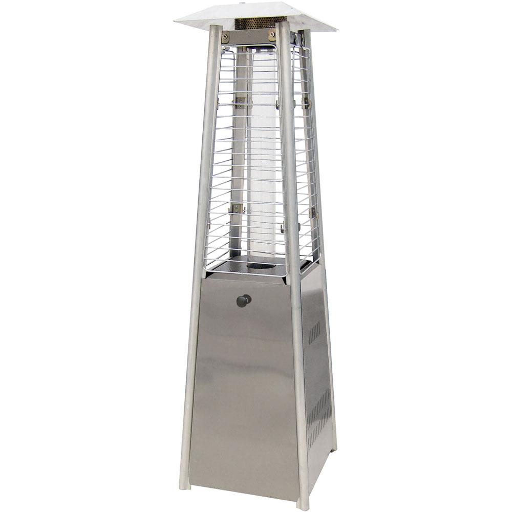 Hanover Mini Pyramid Tabletop 11,000 BTU Stainless Steel Propane Patio  Heater