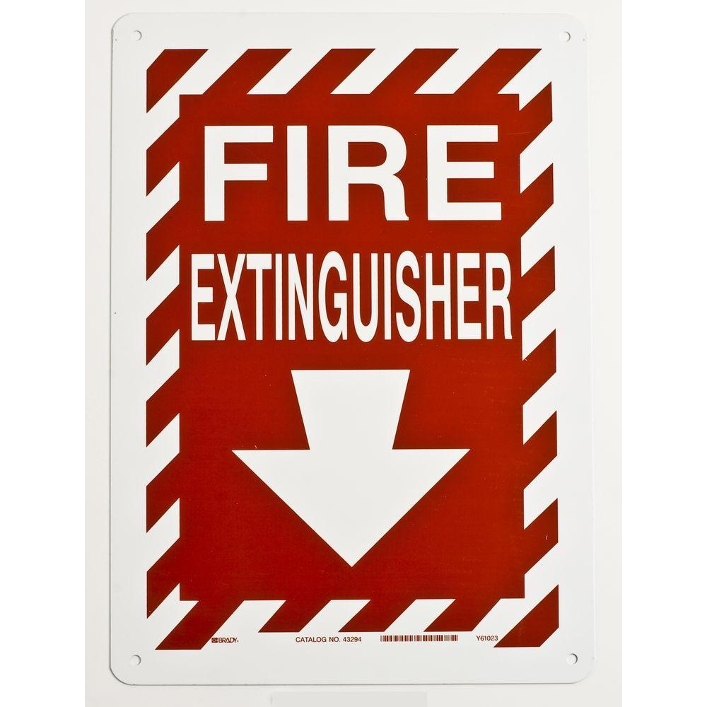 14 in. x 10 in. Aluminum Fire Extinguisher Sign