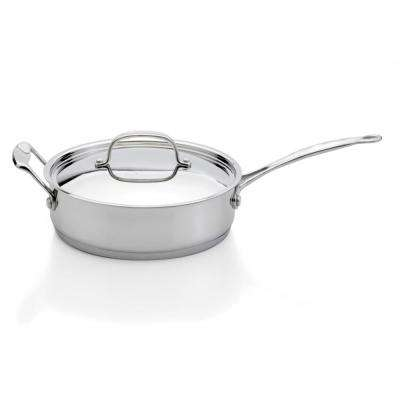 Premium Stainless Steel Covered Deep Skillet