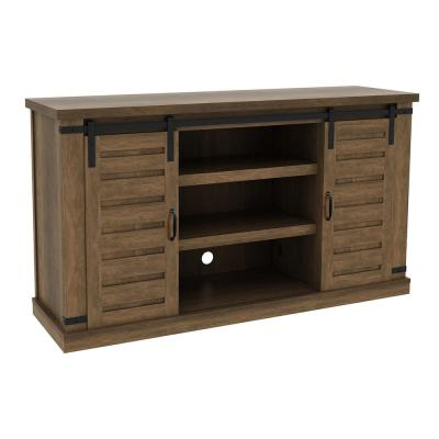 Brighton 54 in. Walnut Media Console