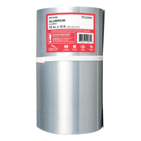 10 in. x 10 ft. Aluminum Roll Valley Flashing
