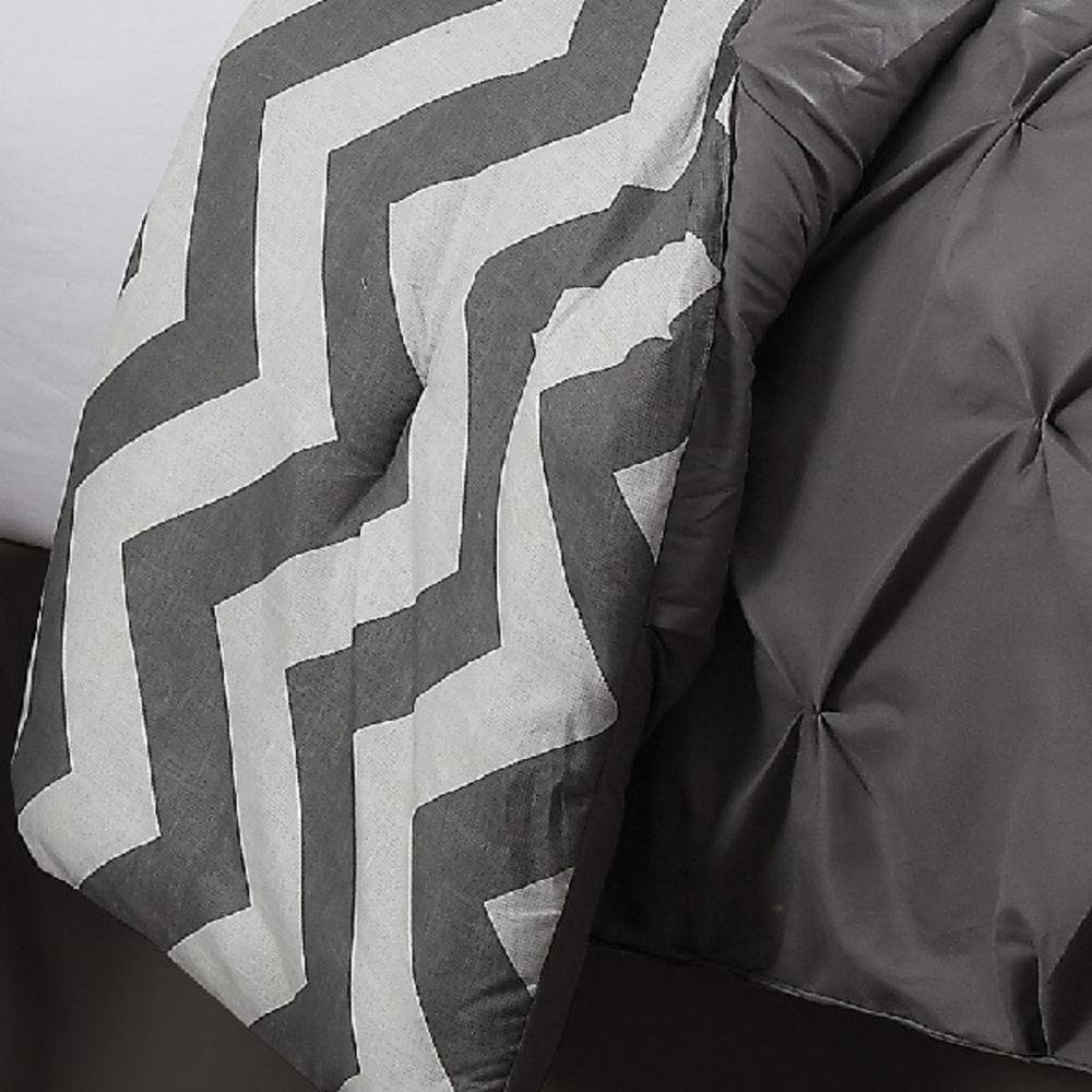 Ella Gray Solid Queen Comforter
