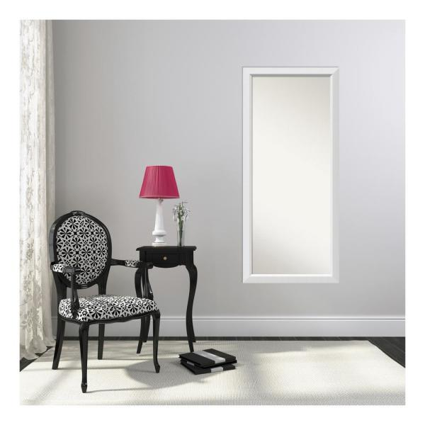 Choose Your Custom Size 25 in. x 56 in. Blanco White Wood Framed Mirror
