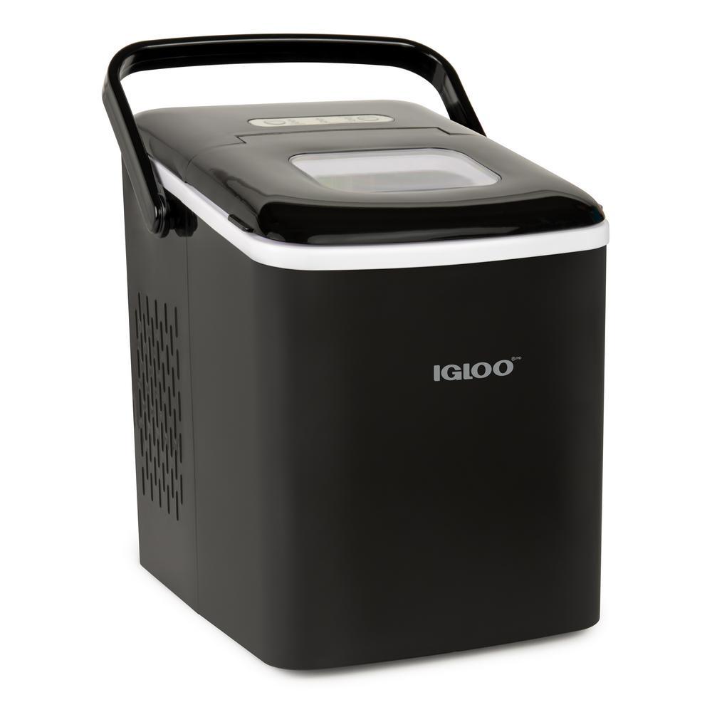 26 lb. Portable Countertop Ice Maker in Black