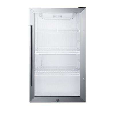 19 in. 3.1 cu. ft. Commercial Outdoor Refrigerator in Black
