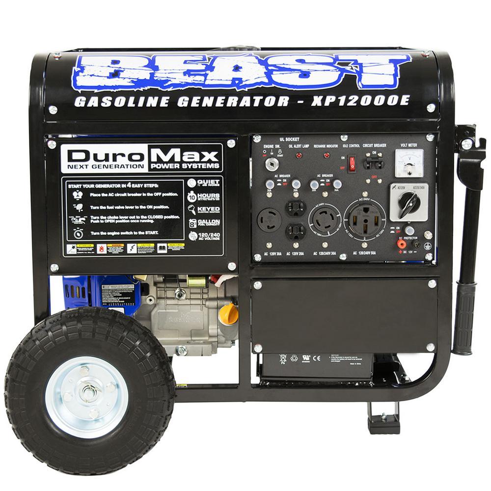 Duromax 12 000 9 500 Watt 18 Hp Gasoline Powered Portable