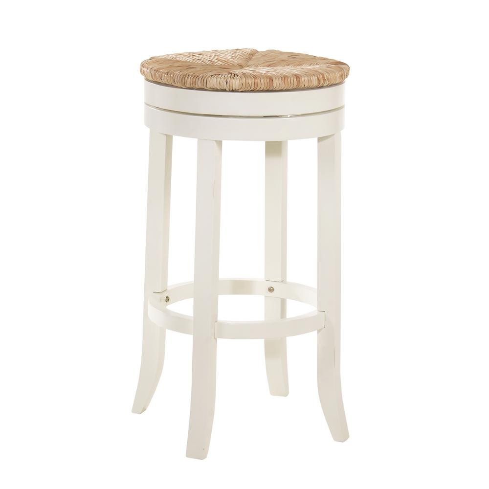 Awe Inspiring Carolina Chair And Table Irving 30 In Antique White Swivel Bar Stool Pdpeps Interior Chair Design Pdpepsorg