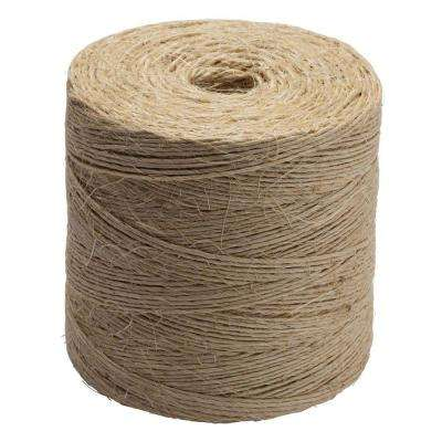#42 x 2250 ft. Twisted Sisal Rope Twine, Natural