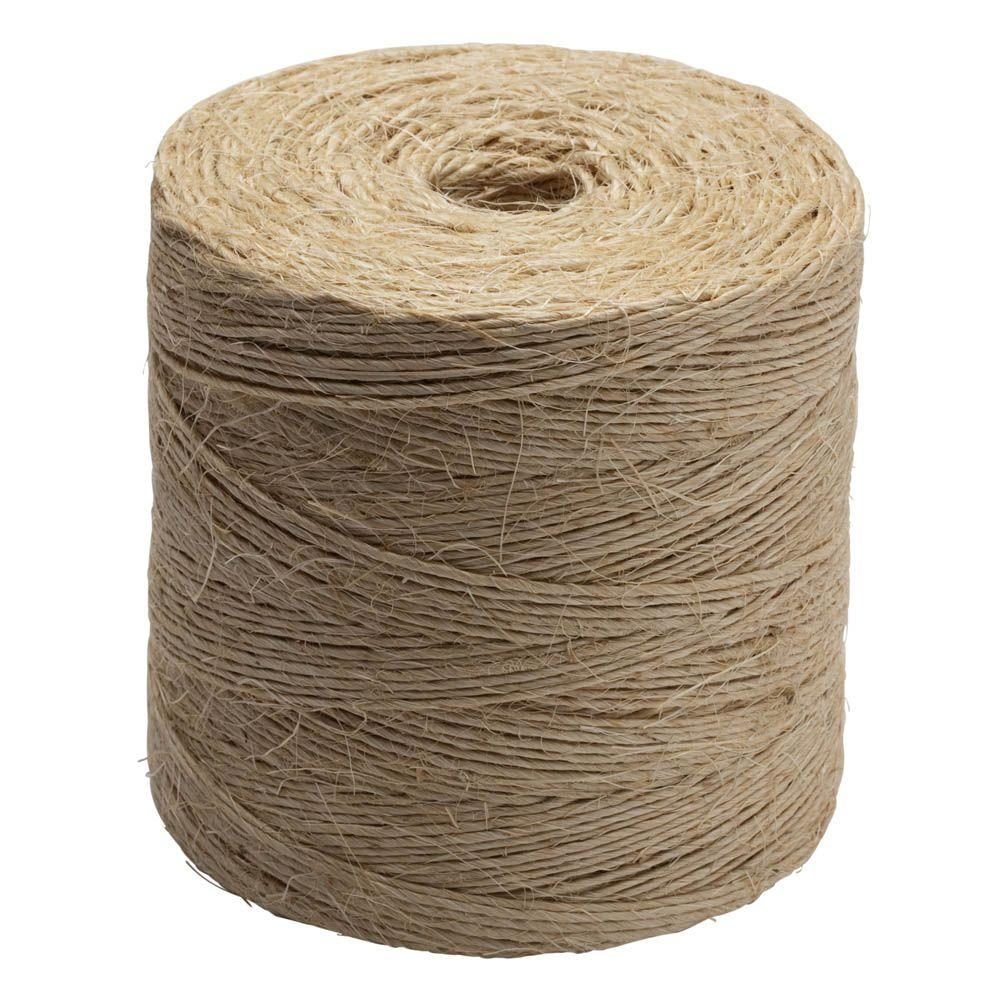 White Twisted Polypropylene Tying Twine 3//32 in x 6500 ft Mildew Resistant Rope